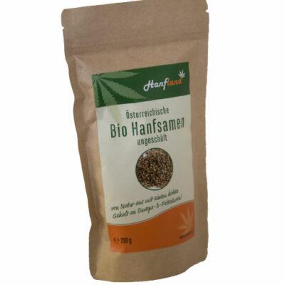 Bio Hanfsamen aus Bio Hanf von Hanfland aus Oesterreich in der 250g Packung