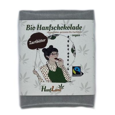 Bio Hanfschokolade Zartbitter mit Hanf von Hanfland in der 70g Packung aus Oesterreich