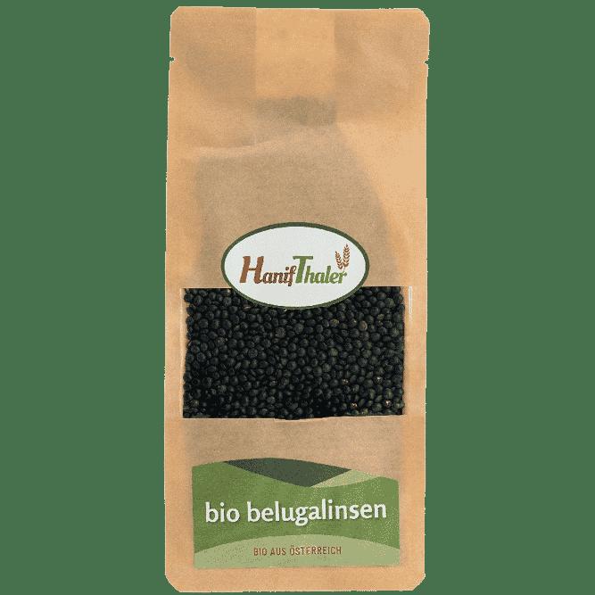 Bio Belugalinsen aus Oesterreich von Hanifthaler Regionale Huelsenfruechte vegane proteinquelle hanfland