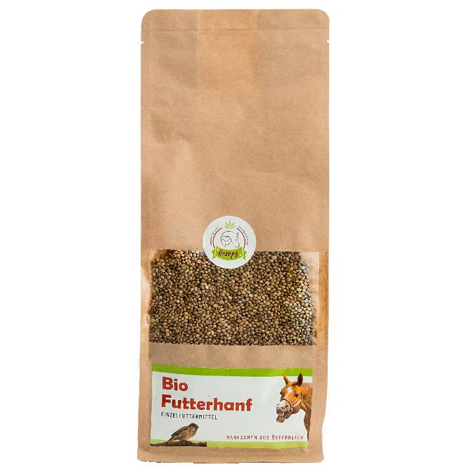 Bio Futterhanf, Futterhanfsamen aus Oesterreich in der 1kg Packung fuer Tiere