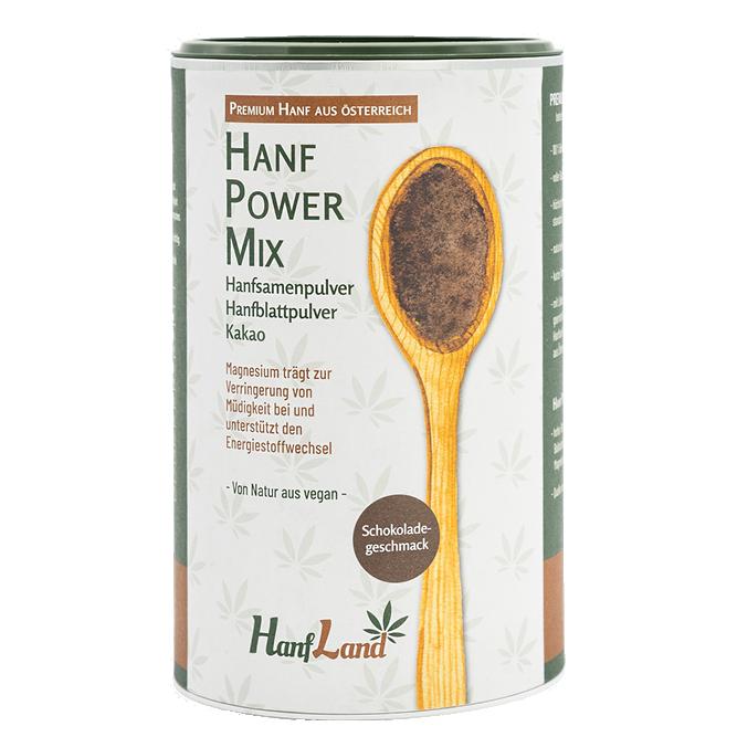 Bio Hanf Power Mix, Vegan Protein Shake aus Premium Hanf in der 500g Packung von Hanfland