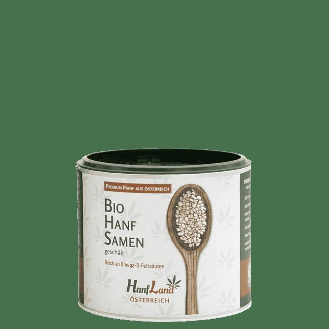 Bio Hanfsmamen geschaelt aus Oesterreich aus Premium Hanf in der 250g Packung von Hanfland
