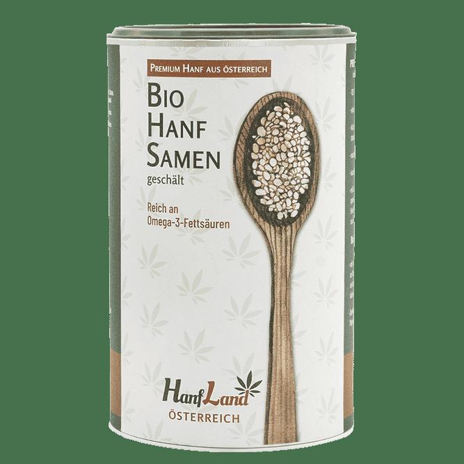 Bio Hanfsmamen geschaelt aus Oesterreich aus Premium Hanf in der 500g Packung von Hanfland