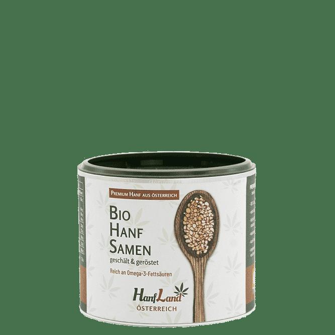 Bio Hanfsmamen geschaelt und geroestet aus Oesterreich aus Premium Hanf in der 250g Packung von Hanfland