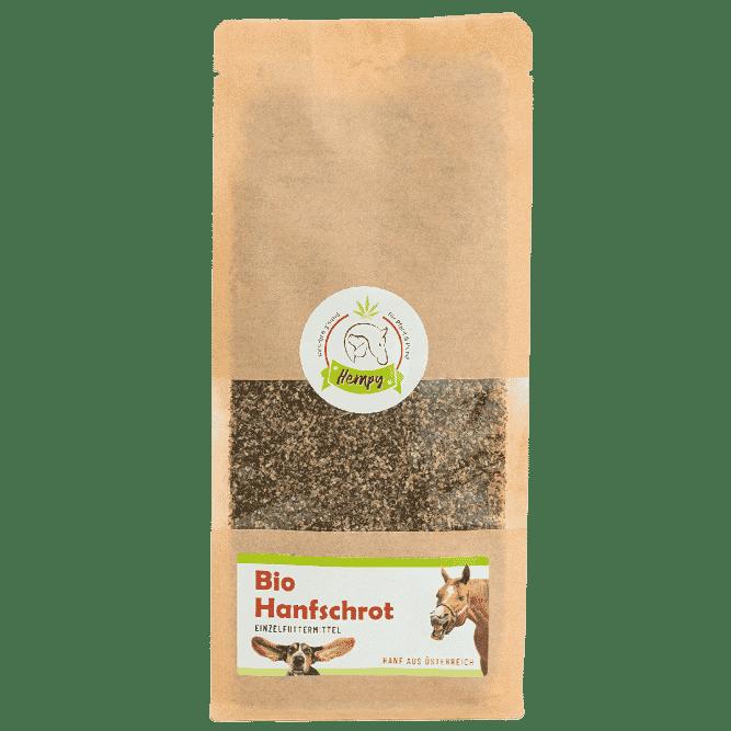 Bio Hanfschrot aus Oesterreich für Tiere in der 300g Packung