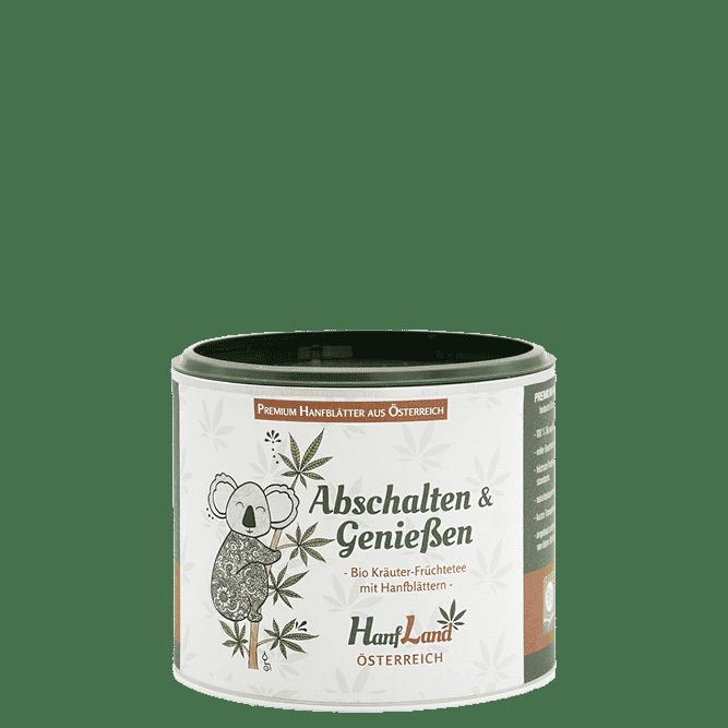 Bio Kraeutertee Fruechtetee Hanftee Abschalten und Geniessen mit Hanfblaettern aus Oesterreich aus Premium Hanf in der 40g Packung von Hanfland