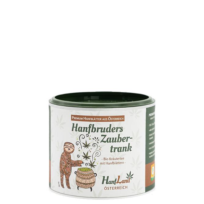 Bio Kraeutertee Hanftee Hanfbruders Zaubertrank mit Hanfblaettern aus Oesterreich aus Premium Hanf in der 40g Packung von Hanfland