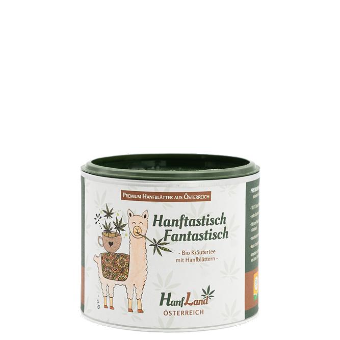 Bio Kraeutertee Hanftee Hanftastisch Fantastisch mit Hanfblaettern aus Oesterreich aus Premium Hanf in der 40g Packung von Hanfland