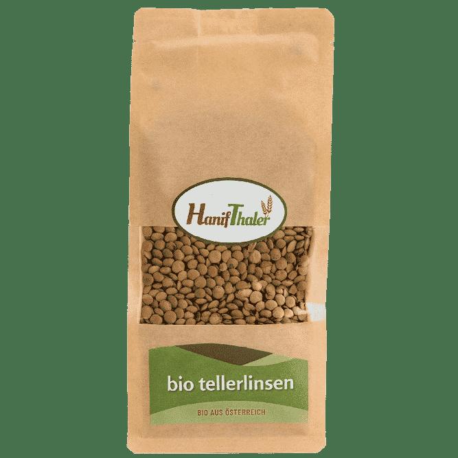 Bio Tellerlinsen aus Oesterreich von Hanifthaler Regionale Huelsenfruechte vegane proteinquelle hanfland