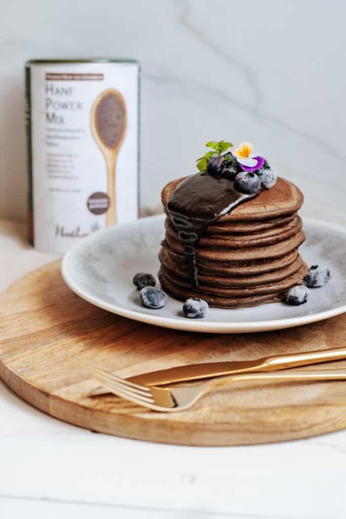 Pancakes aus bio hanf power mix mit hanfprotein veganes eiweiss aus oesterreich aus bio premium hanf von hanfland